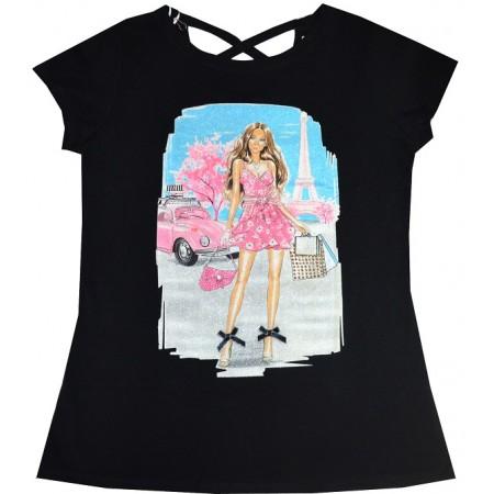 Юношеска блуза МОМИЧЕ 14-16 години в черно.