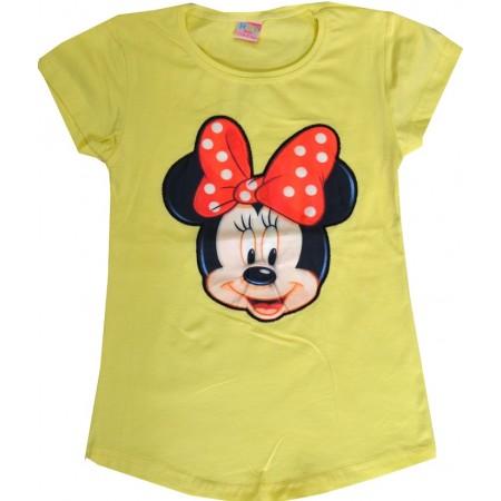 Светеща детска блуза МИНИ МАУС 5-8 години в жълто.