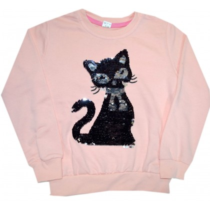 Детска блуза  КОТЕ 110-134 ръст в розово.