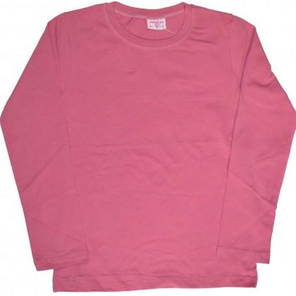 Едноцветна детска блуза 6-9 години розово.