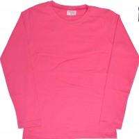 Едноцветна детска блуза 6-9 години в циклама.