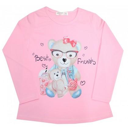 Детска блуза МЕЧЕ 4-8 години в розово.