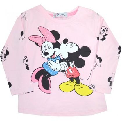 Детска блуза ММ 4-8 години в розово.