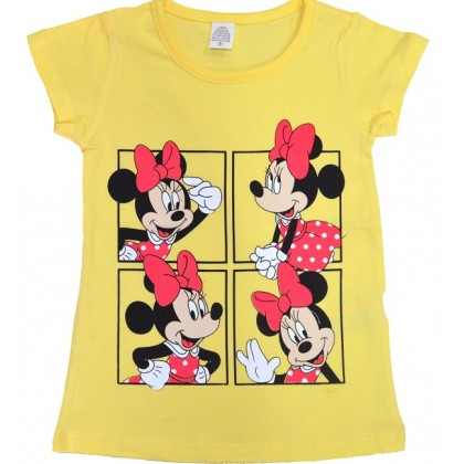 Детска блуза ММ 2-6 години в жълто.