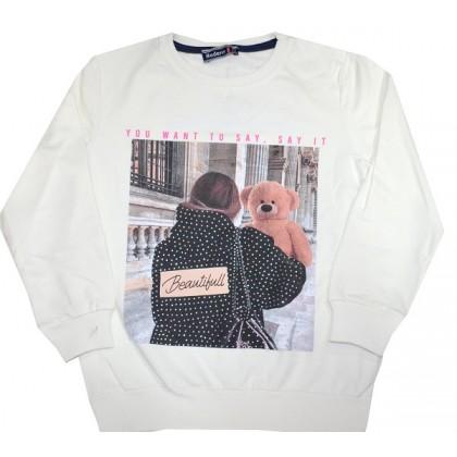 Ватирана детска блуза МОМИЧЕ С МЕЧЕ 7-11 години.