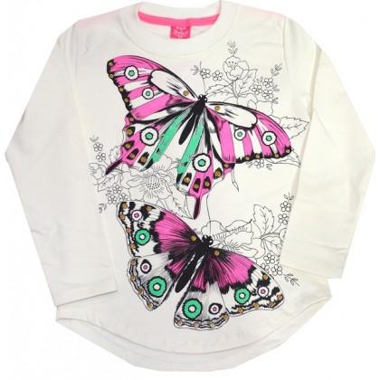 Ватирана детска блуза ПЕПЕРУДИ 7-10 години.