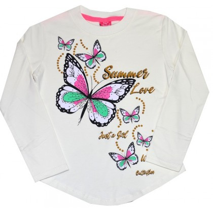 Ватирана детска блуза ПЕПЕРУДА 7-10 години.
