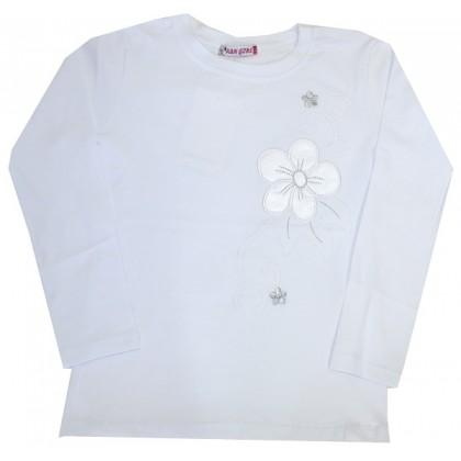 Детска блуза БЯЛА 5-8 години КОД 01.