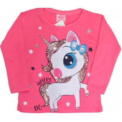 Детска блуза МАЛКО ПОНИ 80-104 ръст в циклама.