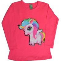 Детска блуза ПОНИ 2-5 години в розово.