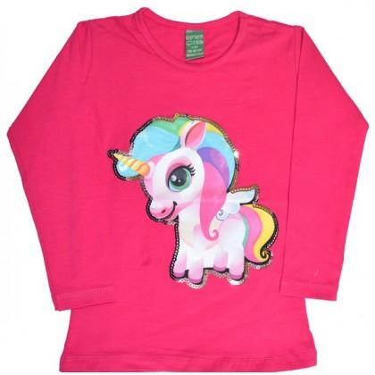 Детска блуза ПОНИ 2-5 години в циклама.
