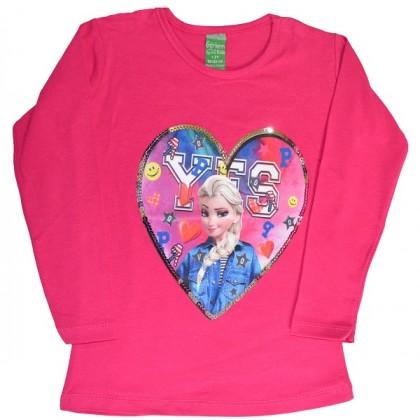 Детска блуза АЕ 2-5 години в циклама.