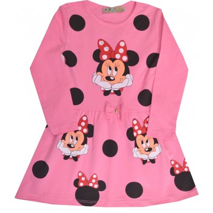 Детска рокля ММ 3-6 години в розово.