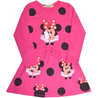 Детска рокля ММ 3-6 години в циклама.