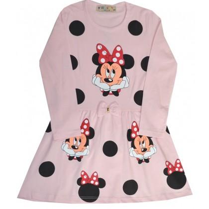 Детска рокля ММ 3-6 години в светло розово.