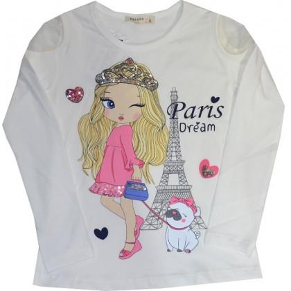 Детска блуза МОМИЧЕ С КУЧЕ 98-128 ръст BREEZE.