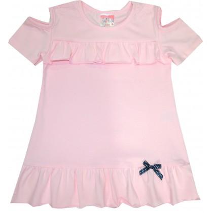 Детска блуза МАРИЕЛА 104-116 ръст в розово.
