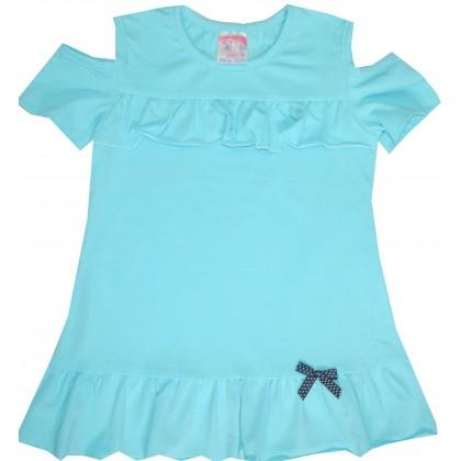 Детска блуза МАРИЕЛА 104-116 ръст в синьо.