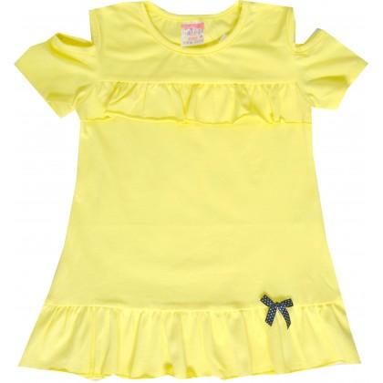 Детска блуза МАРИЕЛА 104-116 ръст в жълто.