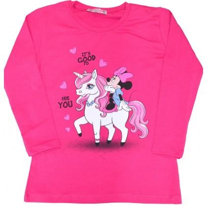 Детска блуза ММ 98-116 ръст в циклама.