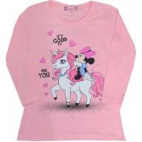 Детска блуза ММ 98-116 ръст в розово.