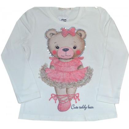 Детска блуза МЕЧЕ 86-110 ръст в бежово.