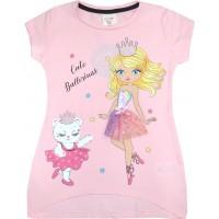 Детска блуза БАЛЕРИНКА 4-7 години в розово.