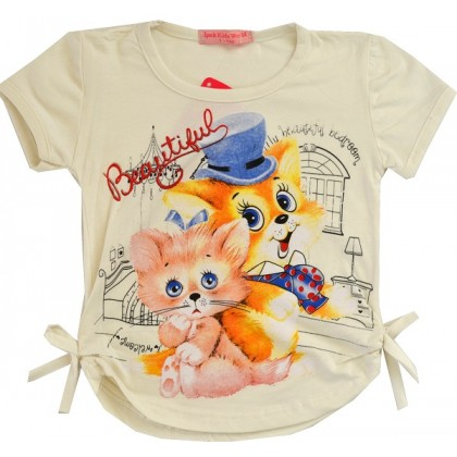 Детска блуза КОТЕ И КУЧЕ 1-3 години.