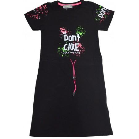 Юношеска туника-рокля 7-12 години в черно.