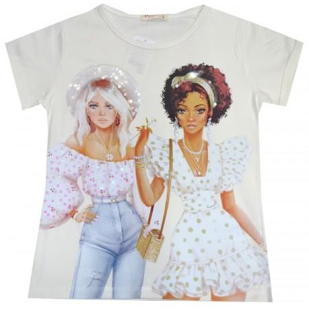 Детска блуза КОКЕТКИ 140-176 ръст фирма BREEZE.