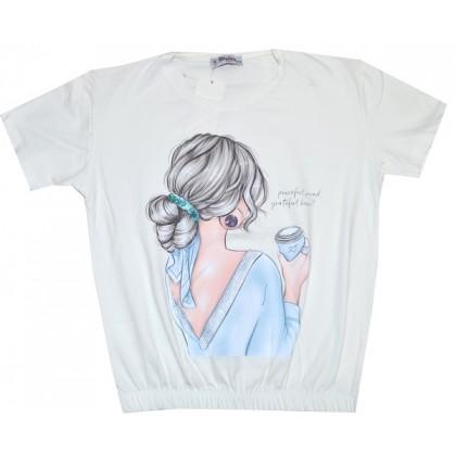 Юношеска къса блуза 12-16 години.