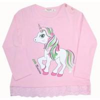 Детска блуза ПОНИ 92-116 ръст в розово BREEZE.