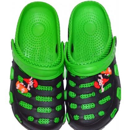 Детски крокс 30-35 номер в зелено.