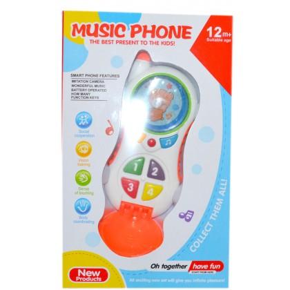 Музикален детски телефон МЕЧЕ 12М+.