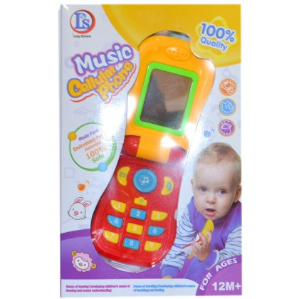 Детски музикален телефон с капаче 12м+.