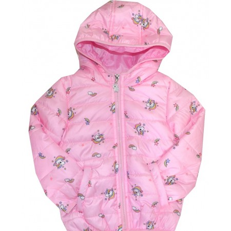 Тънко детско яке ПОНИТА 18-24 месеца в розово.