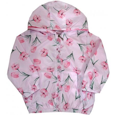 Пролетно яке НЕЖНИ ЦВЕТЯ 9 месеца -3 години в розово.
