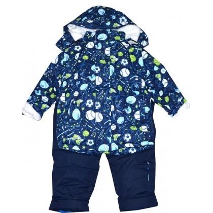 Детски зимен комплект яке и гащеризон 3-5 години.