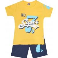 Детски комплект SUPER 3-5 години в жълто.