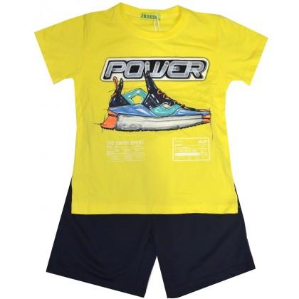 Детски комплект СПОРТ 4-9 години в жълто.