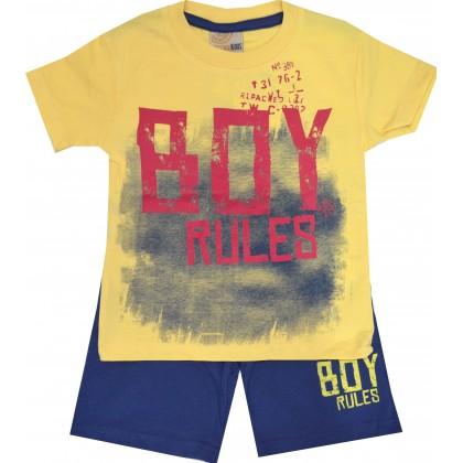 Детски комплект BOY 92-116 ръст в жълто.
