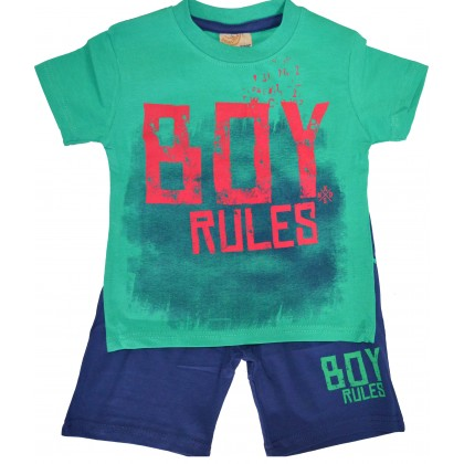 Детски комплект BOY 92-116 ръст в зелено.