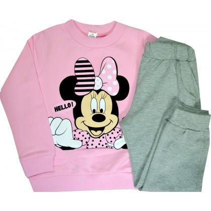 Ватиран детски комплект МИНИ МАУС 104-116 ръст в розово.