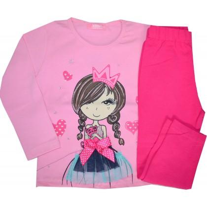 Детски комплект МОМИЧЕНЦЕ 1-2 години в розово.