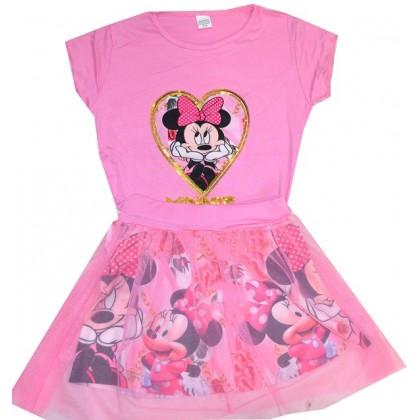 Детски комплект MM 4-8 години в розово.