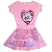 Детски комплект АЕ 2-8 години в розово.