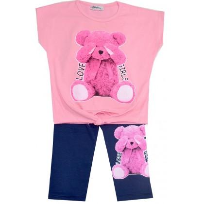 Детски комплект МЕЧО 8-11 години в розово.