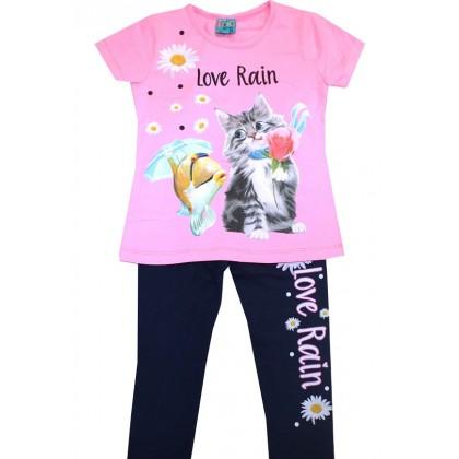 Детски комплект КОТЕ 2-5 години в розово.