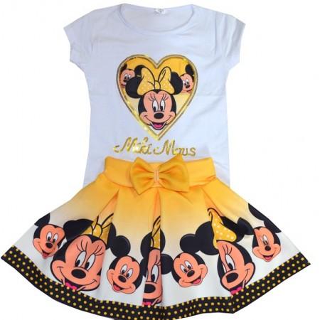 Детски комплект ММ 2-7 години в жълто.