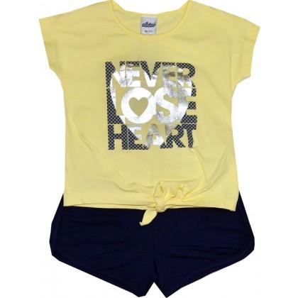 Детски комплект NEVER 98-116 ръст в жълто.
